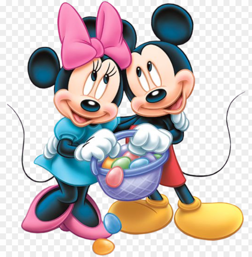 free PNG happy easter mickey and minnie PNG image with transparent background PNG images transparent