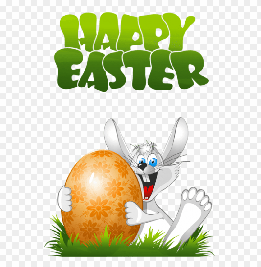 free PNG Download happy easter with bunny transparent png images background PNG images transparent
