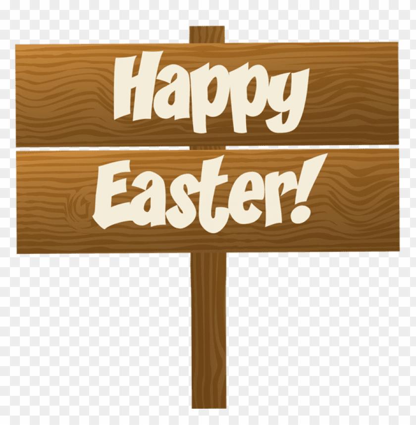 free PNG Download happy easter wooden sign transparent png images background PNG images transparent