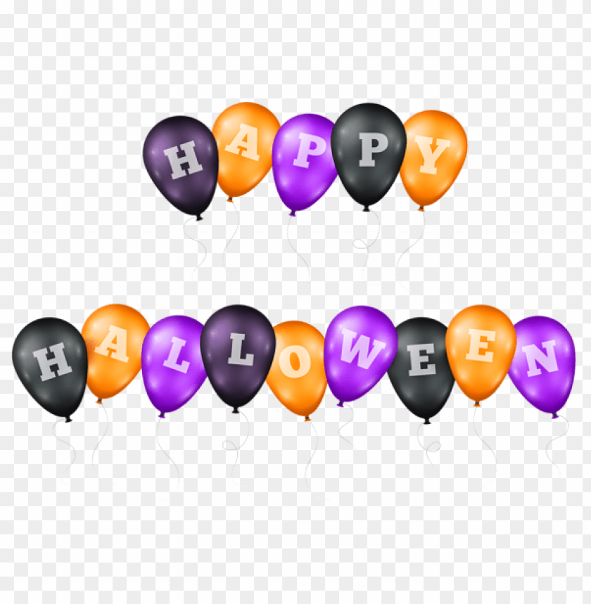 free PNG happy halloween balloons transparent PNG images transparent