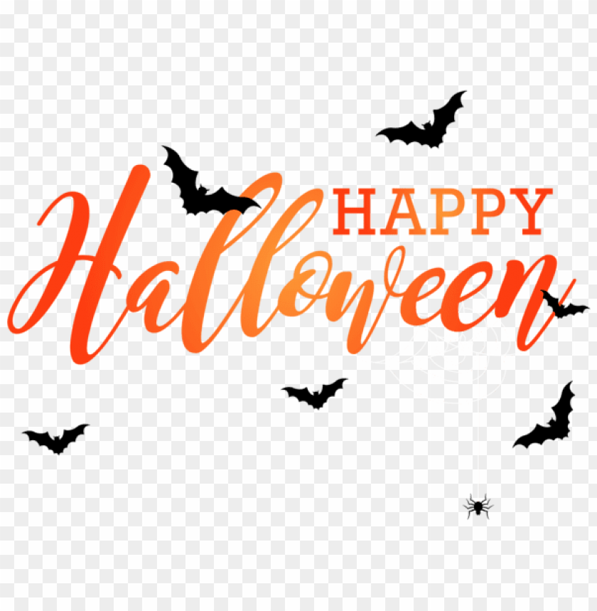 free PNG happy halloween with bats PNG images transparent