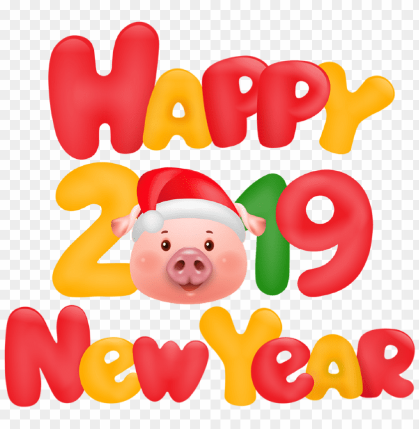 Happy New Year 2019 Pig Png Free Png Images Toppng