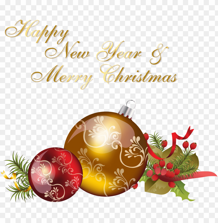 free PNG happy new year and merry christmas - ball ornament christmas PNG image with transparent background PNG images transparent