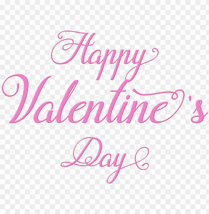 Happy Valentine S Day Pink Text Png Free Png Images Toppng