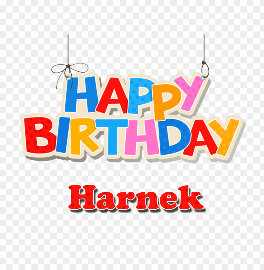 Download Harnek Happy Birthday Balloons Name Png Images Background