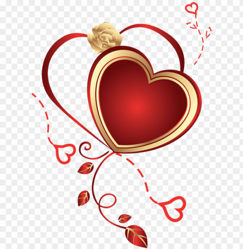 Heart With Rose Png Free Png Images Toppng