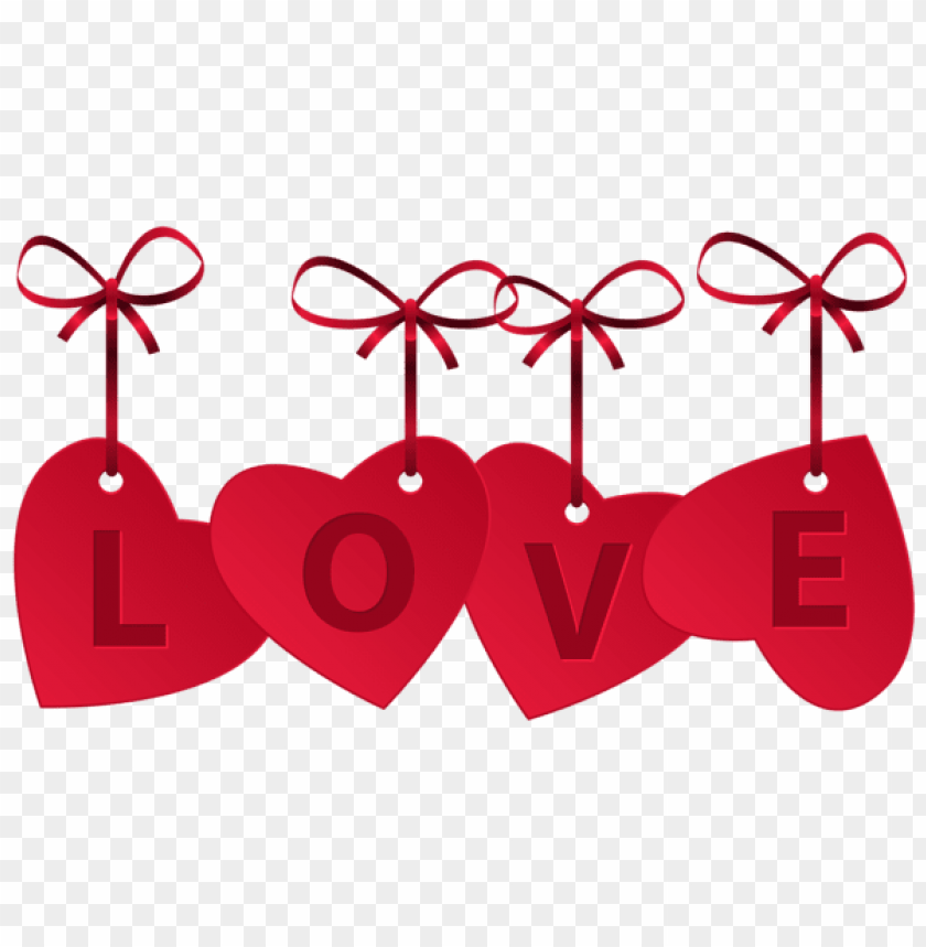 Hearts With Love Decoration Png Free Png Images Toppng