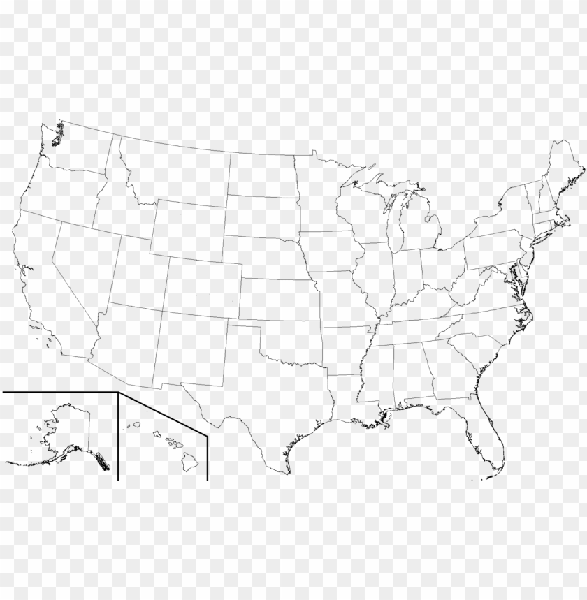 High Resolution Blank United States Map Png Image With Transparent - Us-map-transparent-background