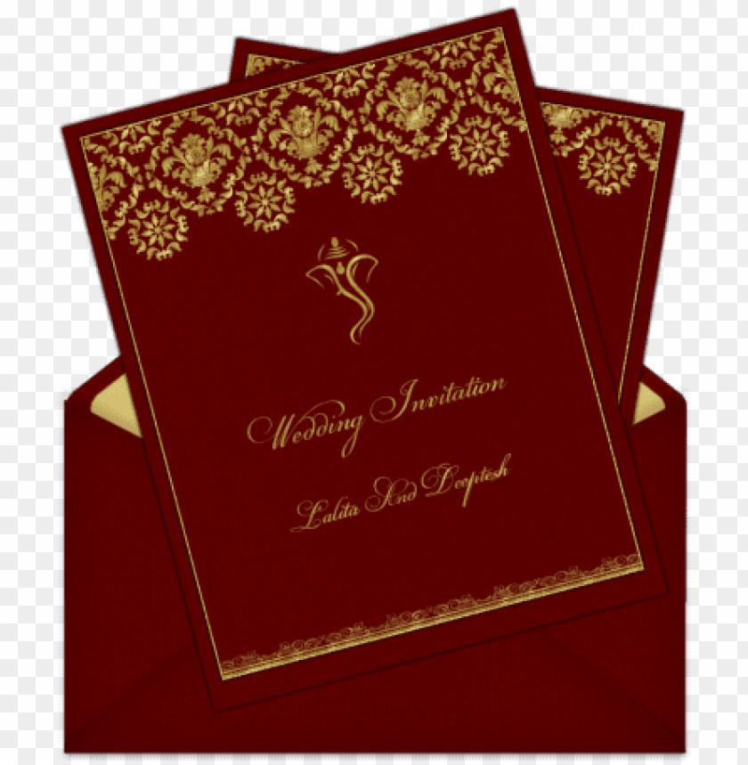 Hindu Indian Wedding Card Design Png Image With Transparent