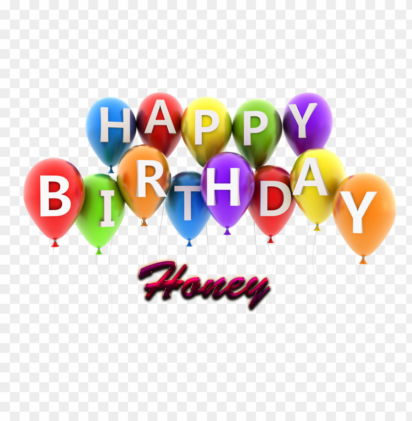 Free PNG Download Honey Happy Birthday Balloons Name Png Images Background Transparent