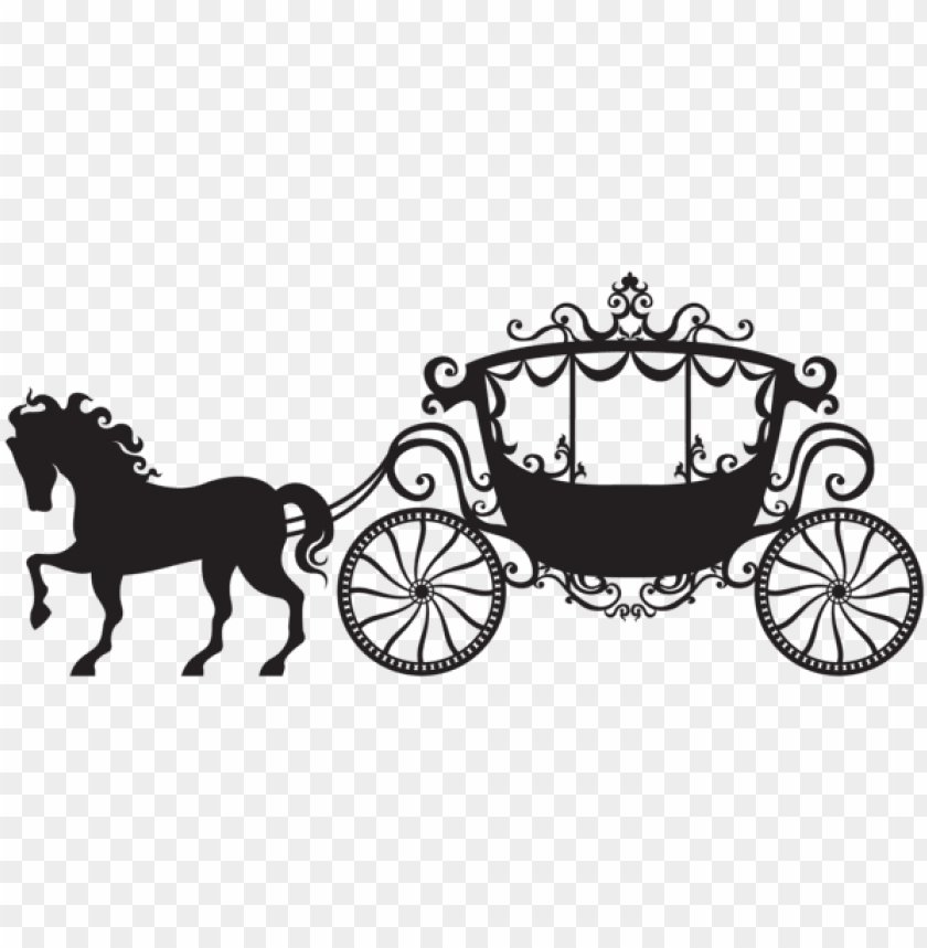 free PNG horse and carriage clipart carriage silhouette png - horse and carriage silhouette PNG image with transparent background PNG images transparent