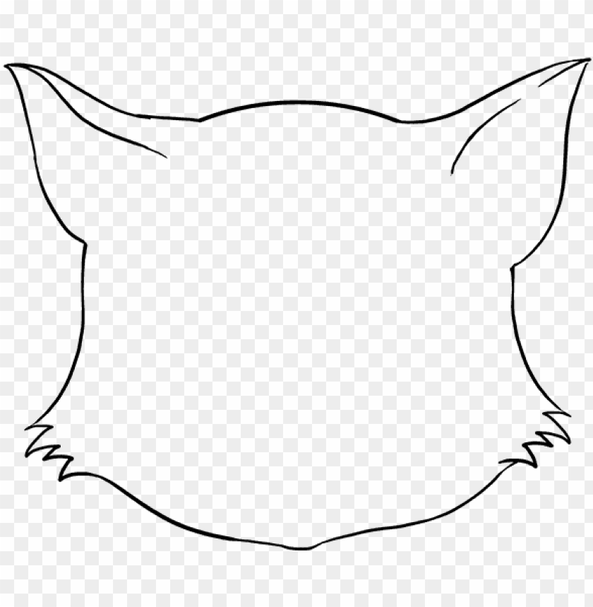 How To Draw Cat Face Draw A Cat Face Png Image With Transparent