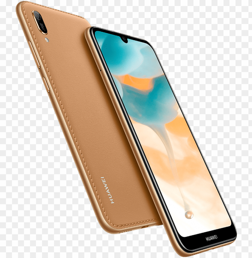 free PNG huawei y6 2019 amber brown - huawei y6 pro 2019 PNG image with transparent background PNG images transparent