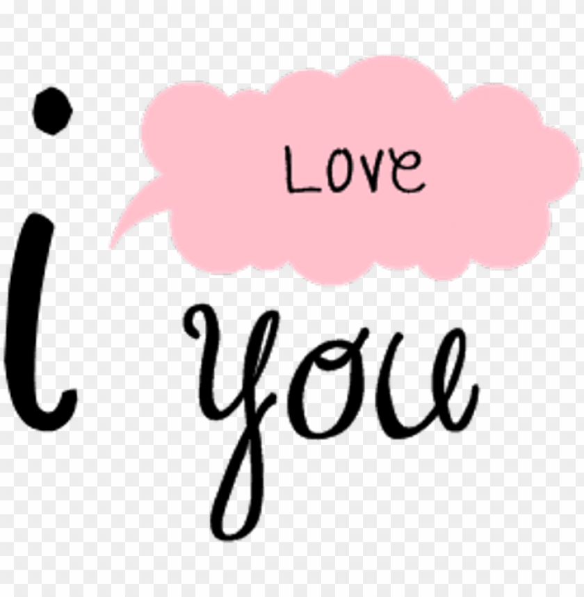 free PNG i sticker - love you tumblr PNG image with transparent background PNG images transparent