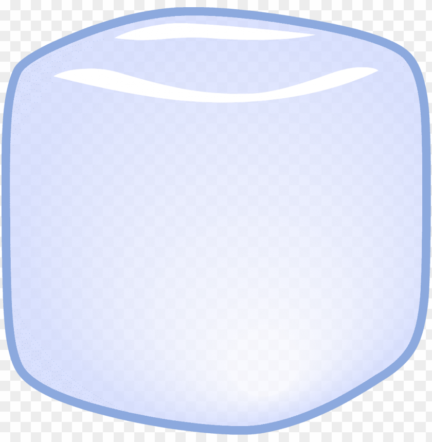 ice cube angled - bfb ice cube body PNG image with transparent