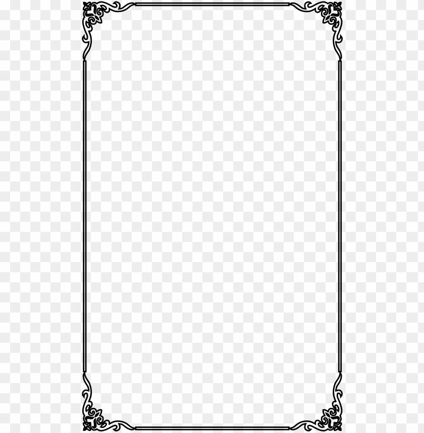 free PNG icture vector frame material elegant computer black - page borders transparent background PNG image with transparent background PNG images transparent