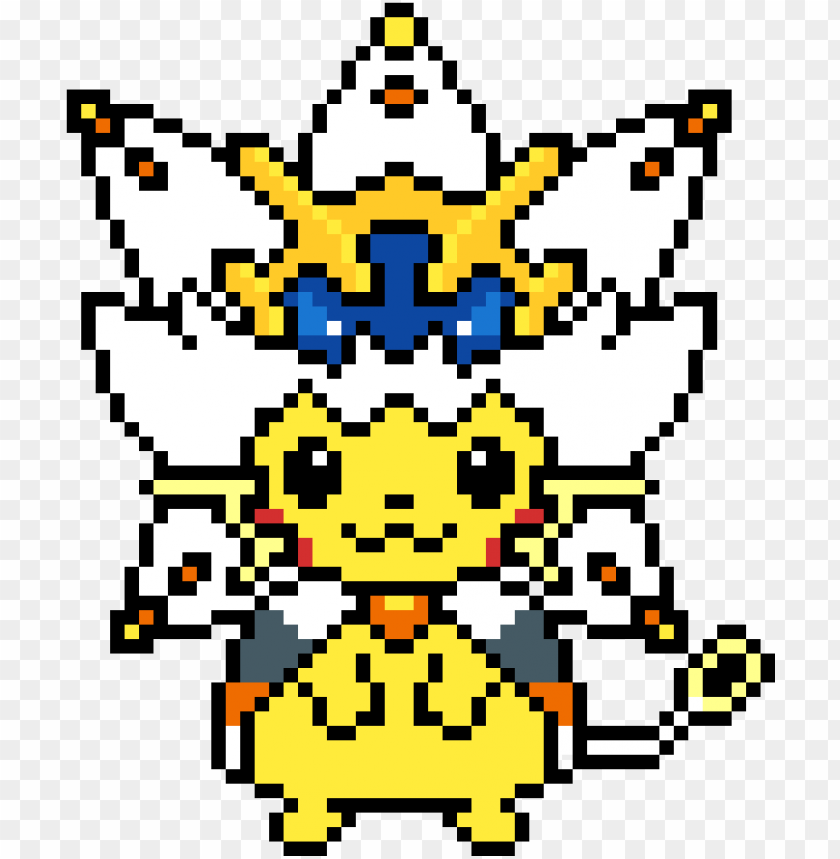 Download Ikachu In Solgaleo Costume Pixel Art Pikachu