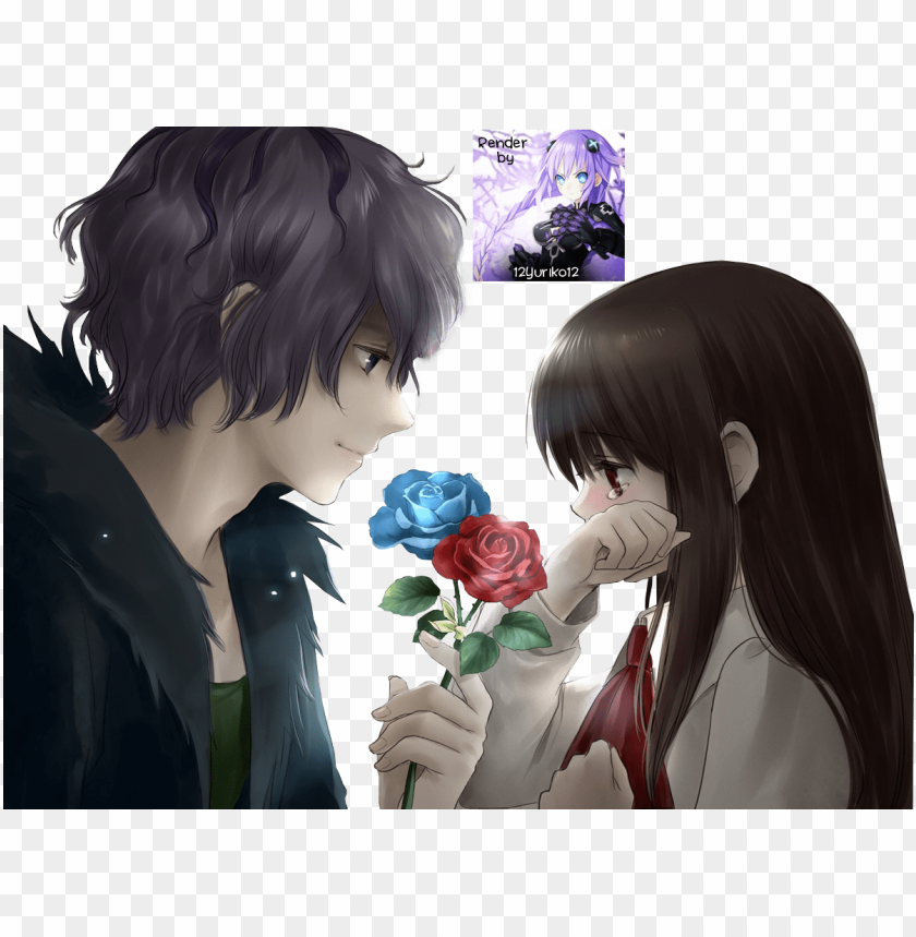 Irl Anime And Boy Anime Sad Sad Anime Girl With Boy Png Image With Transparent Background Toppng