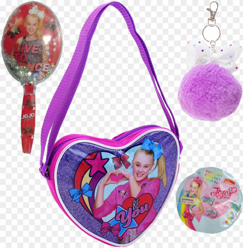 free PNG jojo siwa bag, bow, brush, and key chain 4 pc gift - sleeping bag of jojo siwa PNG image with transparent background PNG images transparent