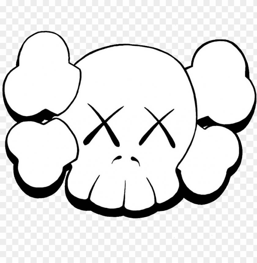 kaws png , kaws skull PNG image with transparent background