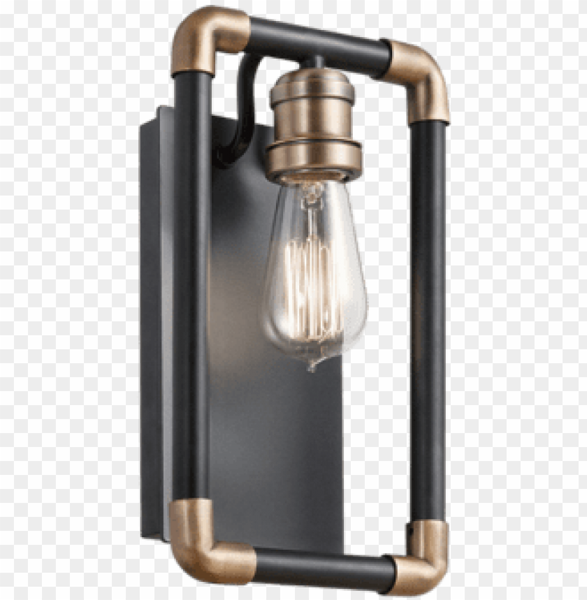 free PNG kichler 1-light industrial pipe wall sconce - industrial nickel wall lights PNG image with transparent background PNG images transparent