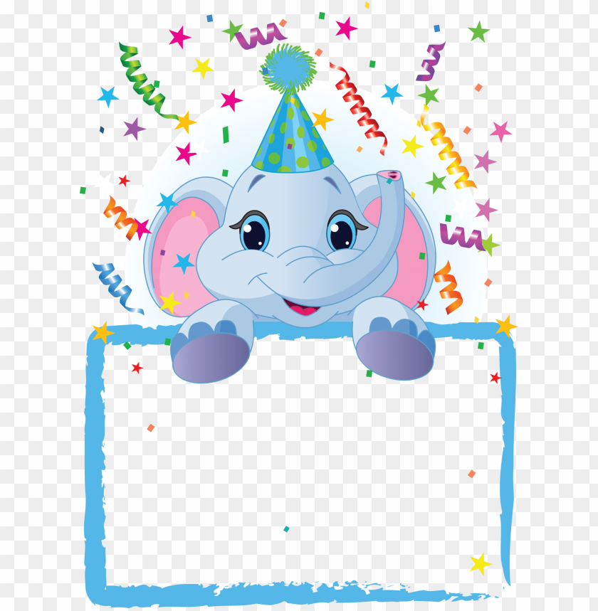 free PNG best stock photos kids blue party frame background PNG images transparent