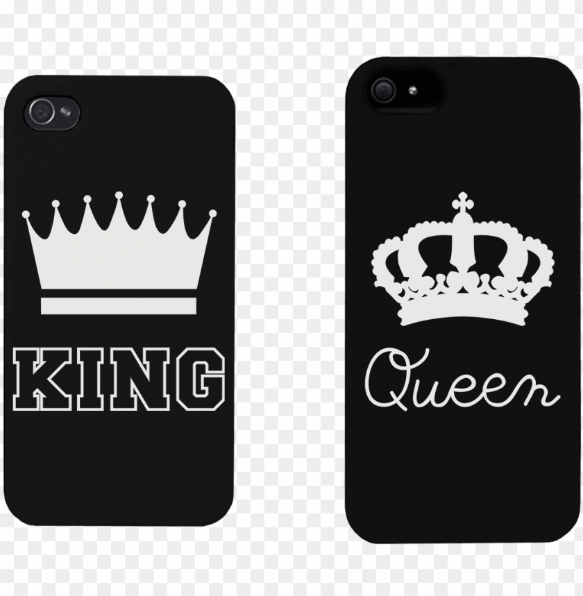 king and queen crown - matching phone wallpaper couple PNG