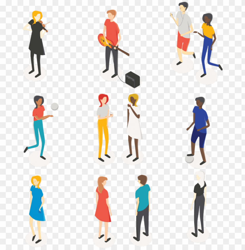 free PNG kisspng behance digital illustration people vector - vector isometric people people PNG image with transparent background PNG images transparent