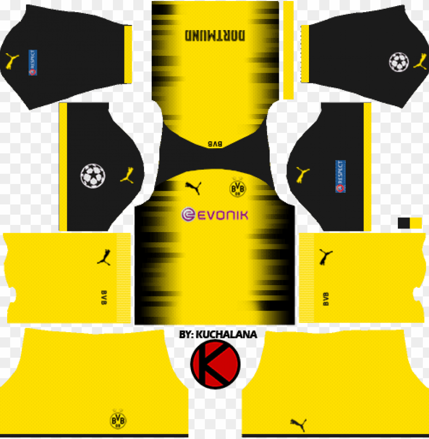 kit dream league soccer 2018 PNG image with transparent