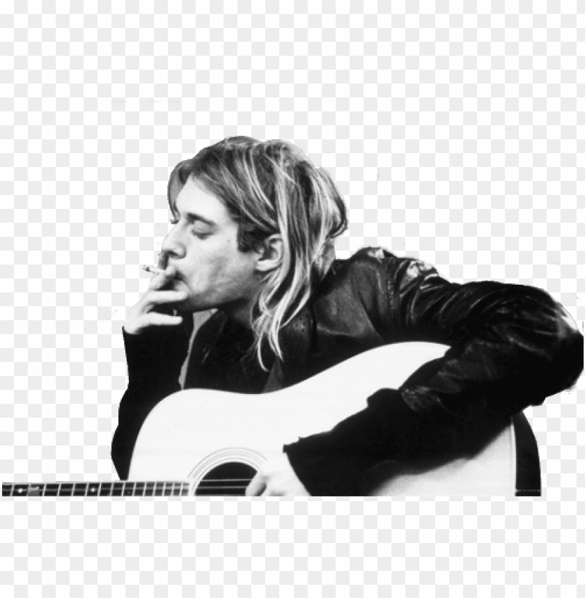 Kurt Cobain Wallpaper With An Acoustic Guitar Entitled