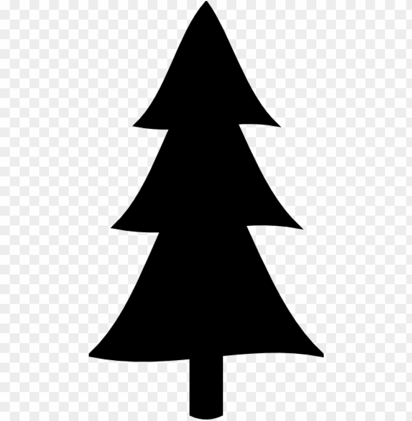 Christmas Tree Clipart Transparent Background.Lack Christmas Tree Clip Art Pine Tree Clipart Silhouette