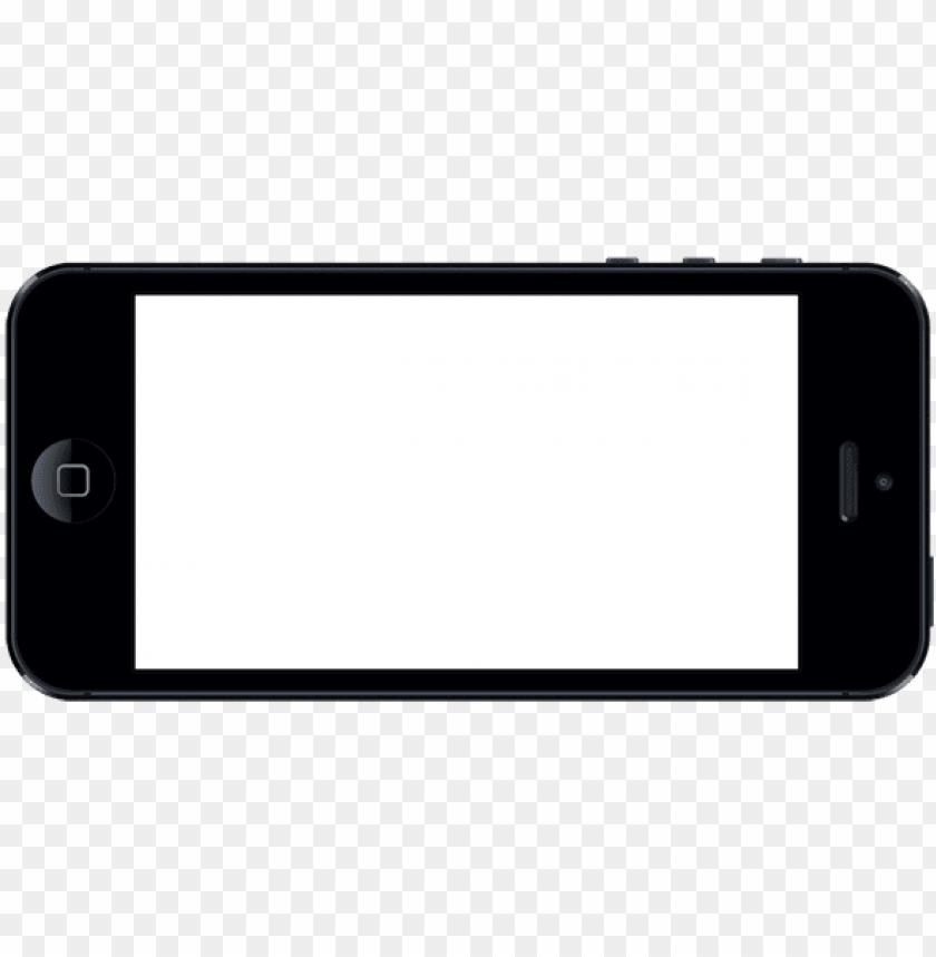 landscape mobile frame PNG image with transparent background