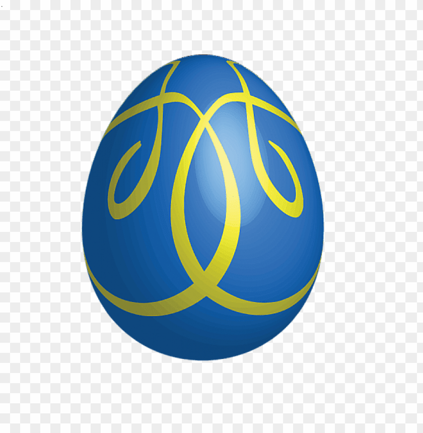 free PNG Download large blue easter egg with yellow ornaments png images background PNG images transparent