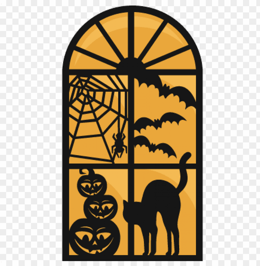 free PNG large halloween window PNG images transparent