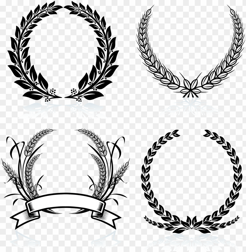 free PNG laurel crown black and white clip art free download - laurel wreath PNG image with transparent background PNG images transparent