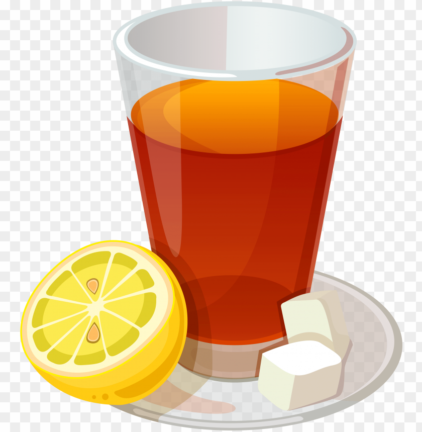 lemon tea vector png image with transparent background toppng toppng