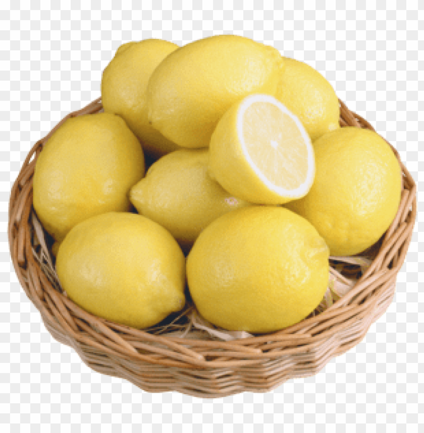 free PNG lemons in wicker bowl PNG images transparent