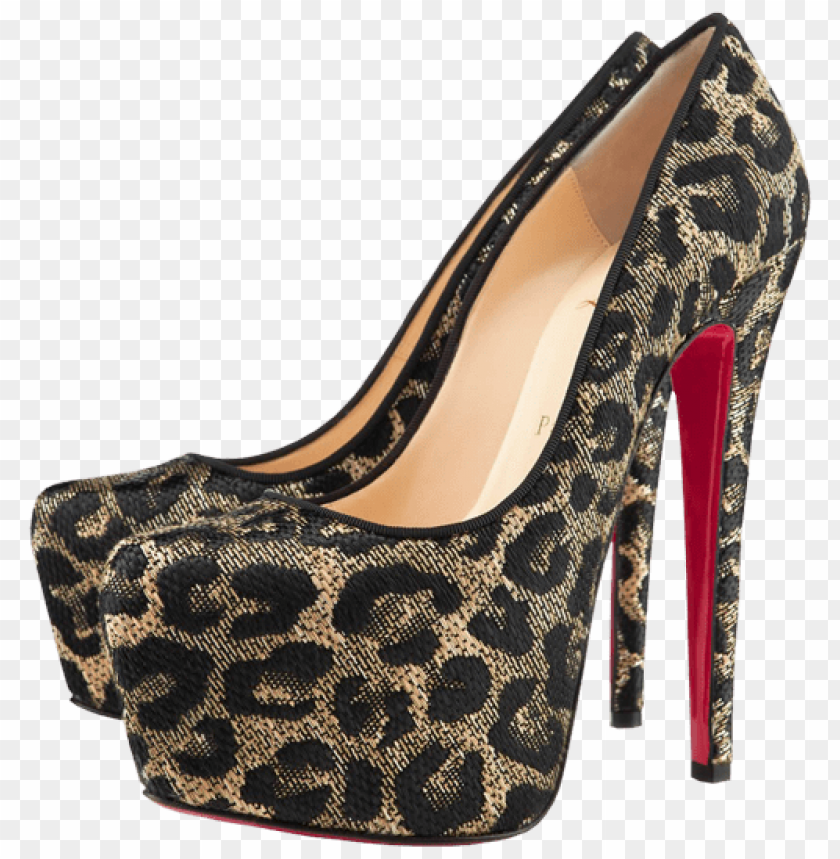 free PNG leopard female heels PNG images transparent