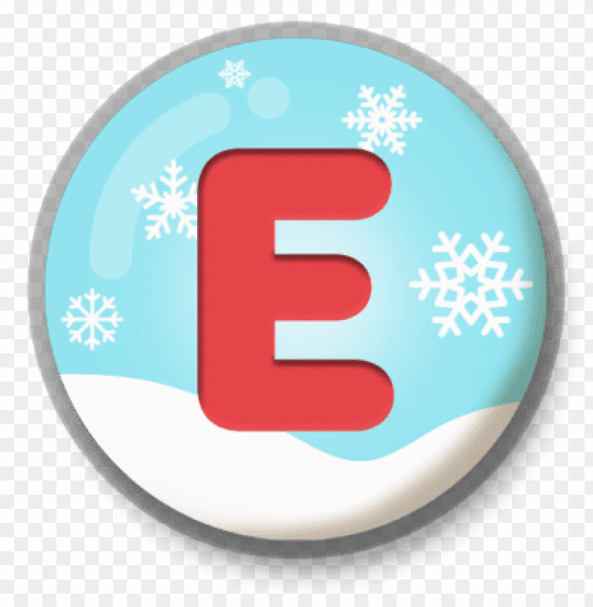 free PNG letter e snowy roundlet PNG image with transparent background PNG images transparent