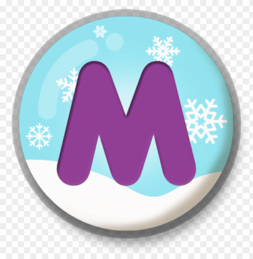 free PNG letter m snowy roundlet PNG image with transparent background PNG images transparent