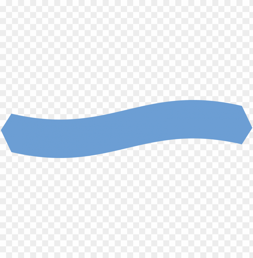 Light Blue Ribbon Banner Wave With Out Wedge End Colorfulness Png Image With Transparent Background Toppng
