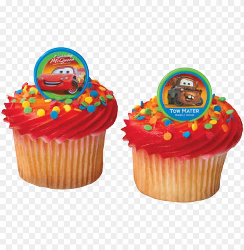 free PNG lightning mcqueen mater cupcake birthday cake frosting - lightning mcqueen mater cupcake birthday cake frosting PNG image with transparent background PNG images transparent