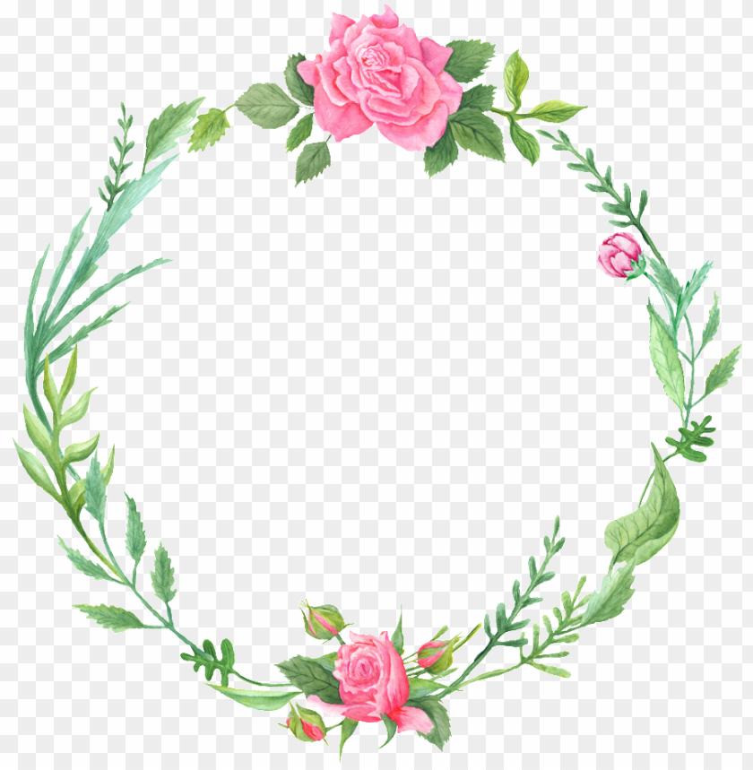 free PNG literary fan green leaf and flower wreath decoration - watercolor wreath transparent background PNG image with transparent background PNG images transparent
