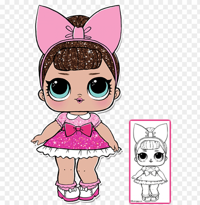 Lol Surprise Doll Coloring Pages Color Your Favorite - Fancy Lol Doll  Glitter PNG Image With Transparent Background TOPpng