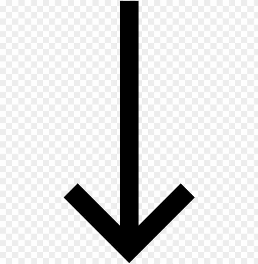 Download long arrow down - down arrow clip art png - Free ...