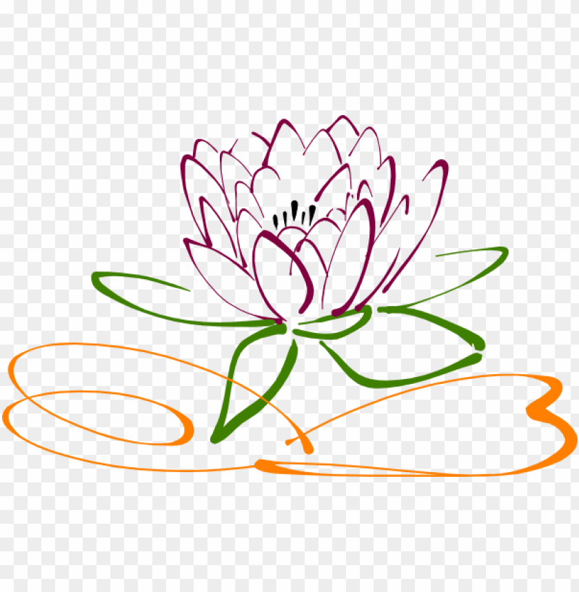 Lotus Flower Vector Png Image With Transparent Background Toppng