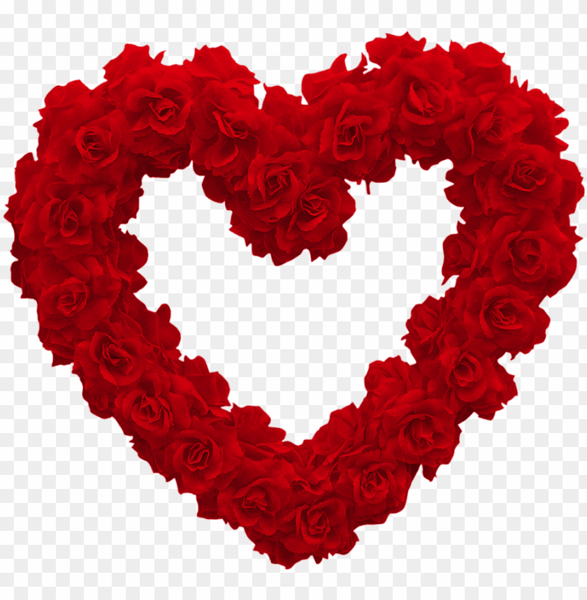 Download Love Heart Of Roses Png Images Background Toppng