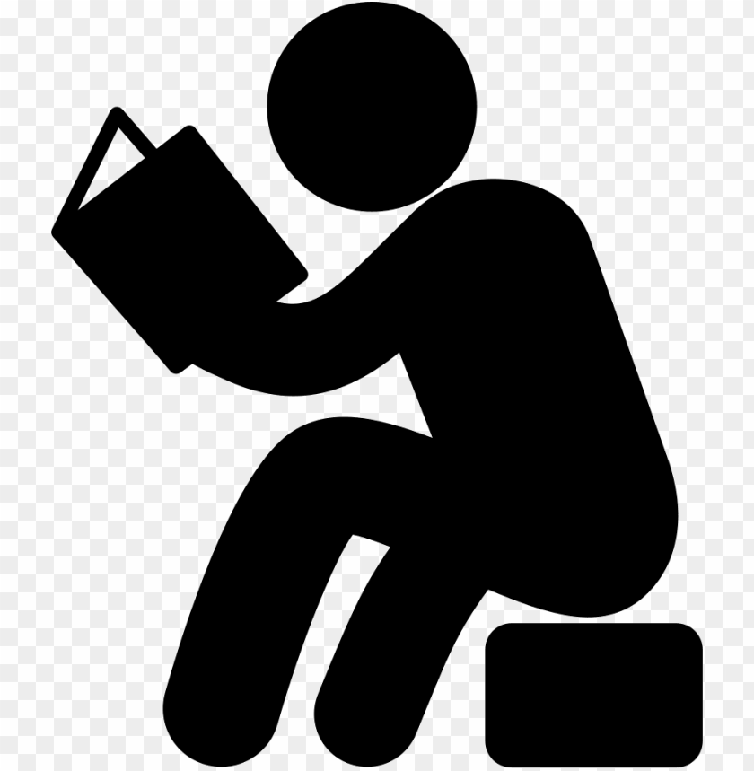 free PNG man sitting and reading book comments - reading book icon PNG image with transparent background PNG images transparent