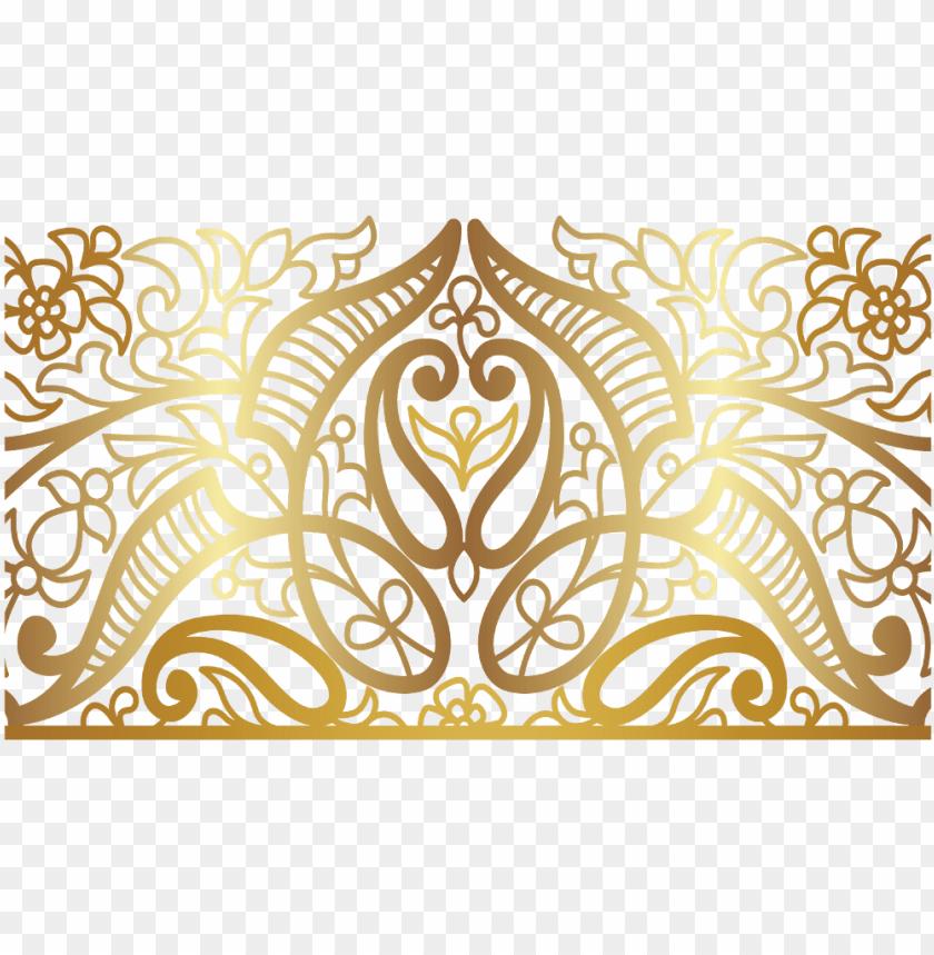 Mandala Swirls Design Pattern Paisley Gold Decor