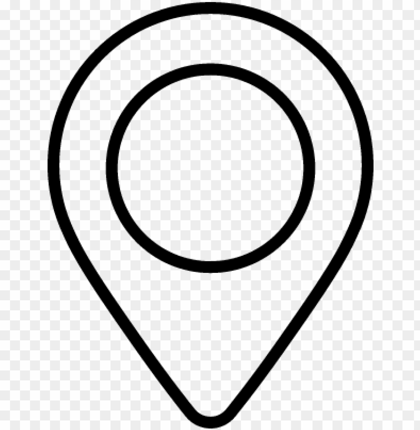 map pin vector - map pin icon white solid PNG image with